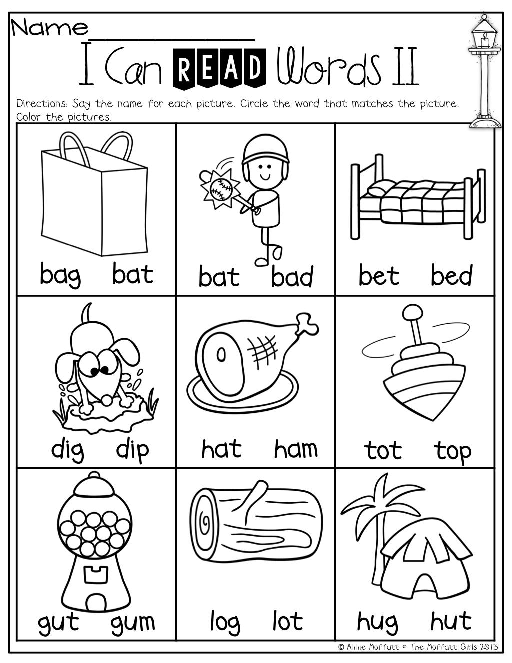 I Can Read Words Cvc Kindergarten Education Kindergarten