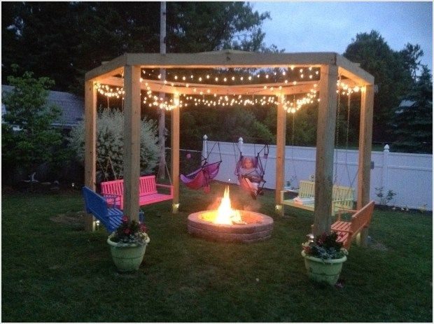 41 Amazing Ideas Backyard Fire Pit With Swings Fire Pit