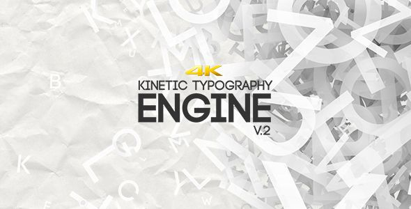 Kinetic Typography Engine V2 4K | Engine, Typography and Motion design