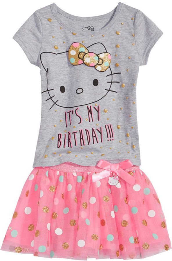 331321d78 Hello Kitty 2-Pc. T-Shirt & Tutu Skirt Set, Baby Girls (0-24 months ...