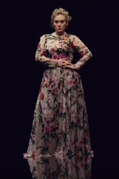 PLUS SIZE Send My Love Floral Chiffon Maxi Dress-Off White   Pink - Similar  to Adele s