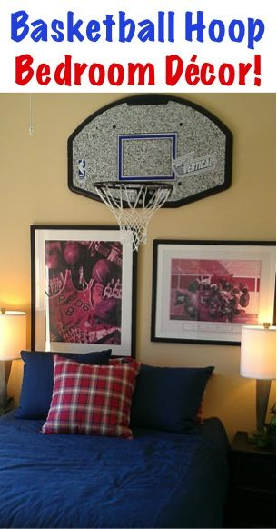 Home Decor Tip: Basketball Bedroom! ~ At TheFrugalGirls.com ~ Check Out  These Fun Tips For Decorating Bedrooms For The Sports Fan!