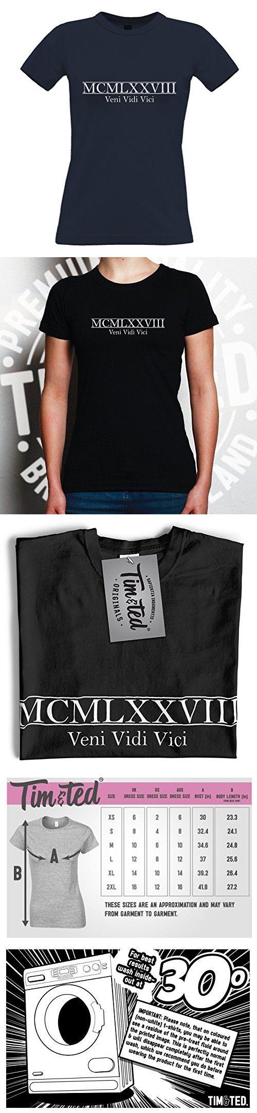 40th Birthday//Gift T-Shirt//Tee Shirt ~ Colours MCMLXXVIII Roman Numeral 1978