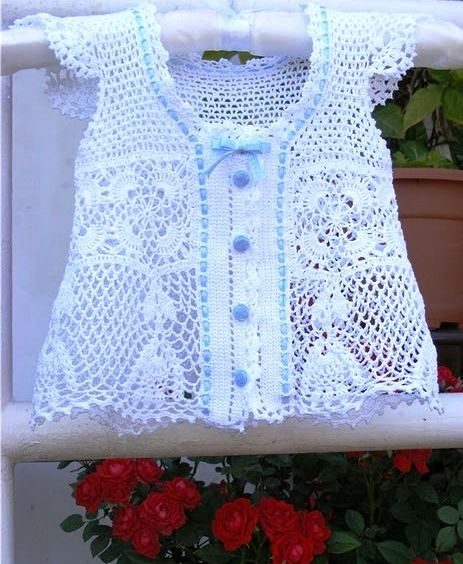 beautiful lace vest for little girls crochet for kids
