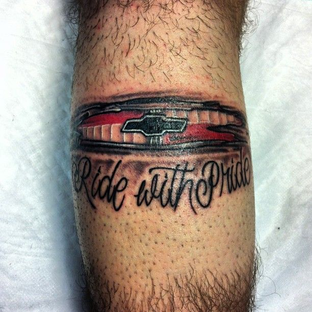 Auto addiction tattoo ride with pride chevy tattoos for Are tattoos addictive