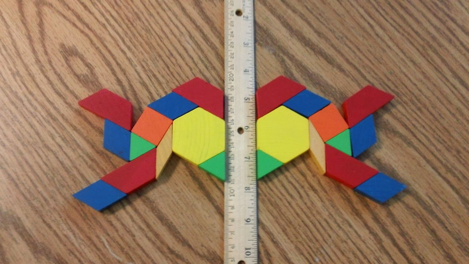 Students Use Pattern Blocks To Demonstrate Understanding Of Lines Of Symmetry Could Also Be