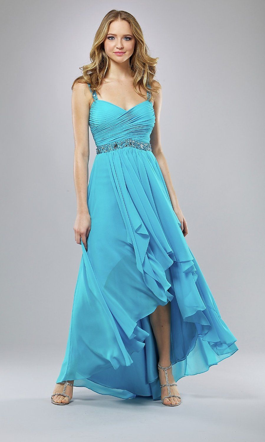 Front-short-and-long-back-Ball-Gown-Wedding-Empire-Prom-Party-Blue ...
