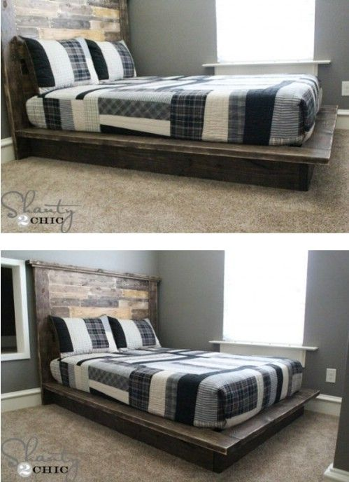 21 Diy Bed Frame Projects Sleep In Style And Comfort Bed Frame And Headboard Diy Bed Frame Diy Bed