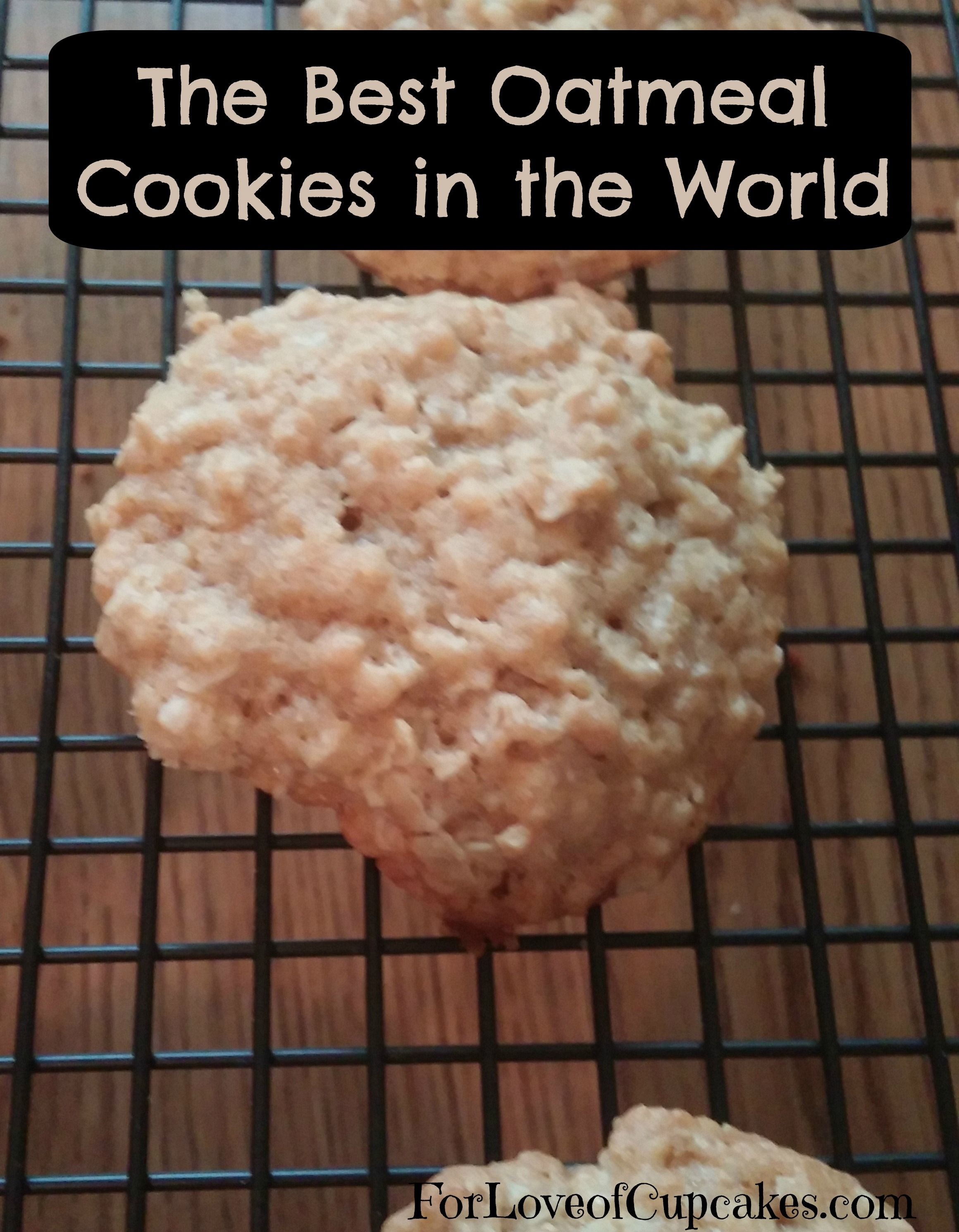 The Best Oatmeal Cookies in the World | For Love of Cupcakes | @4LoveofCupcakes