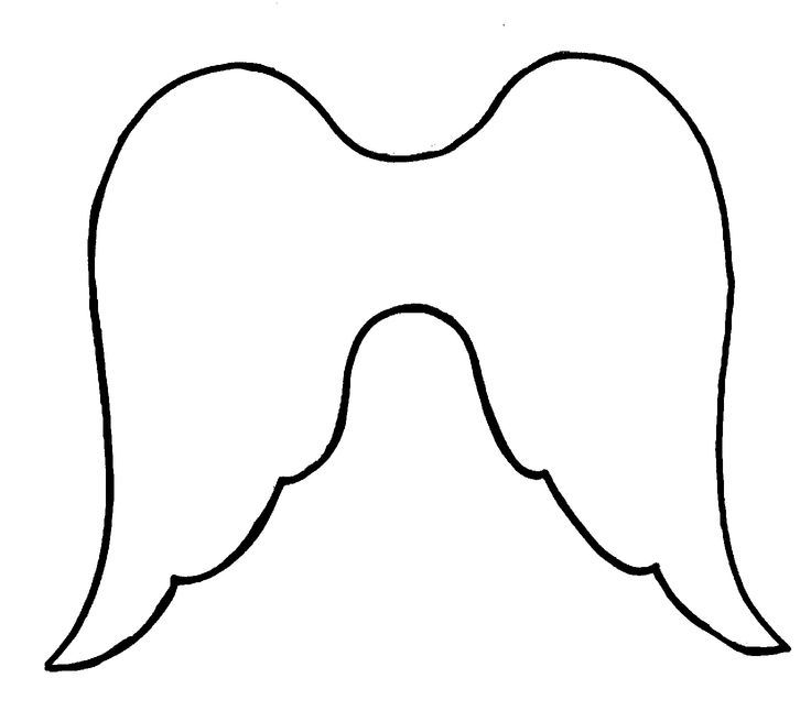 angel wings template outline - photo #4