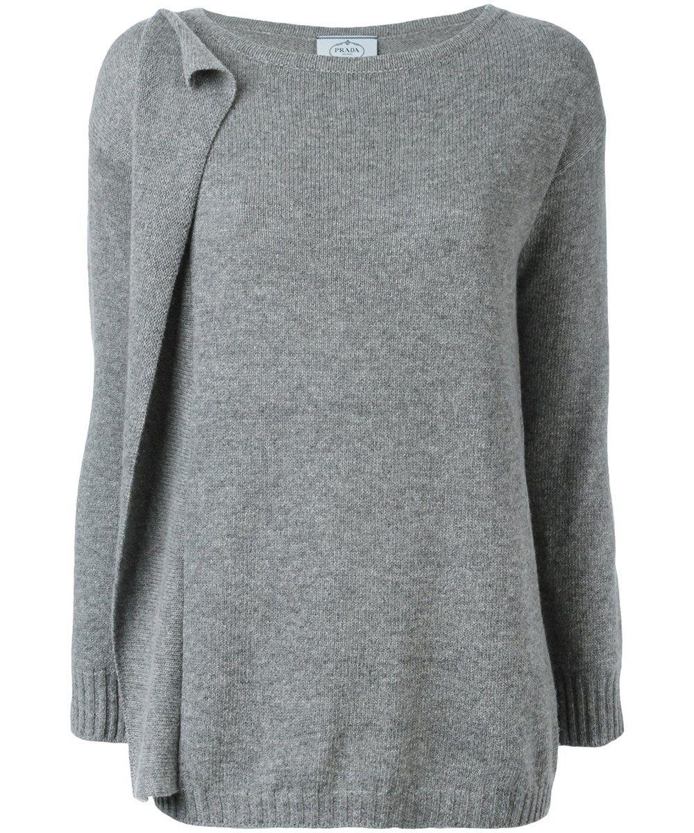 5dd41f314cbf PRADA Prada Women'S Grey Wool Sweater'. #prada #cloth #sweaters ...