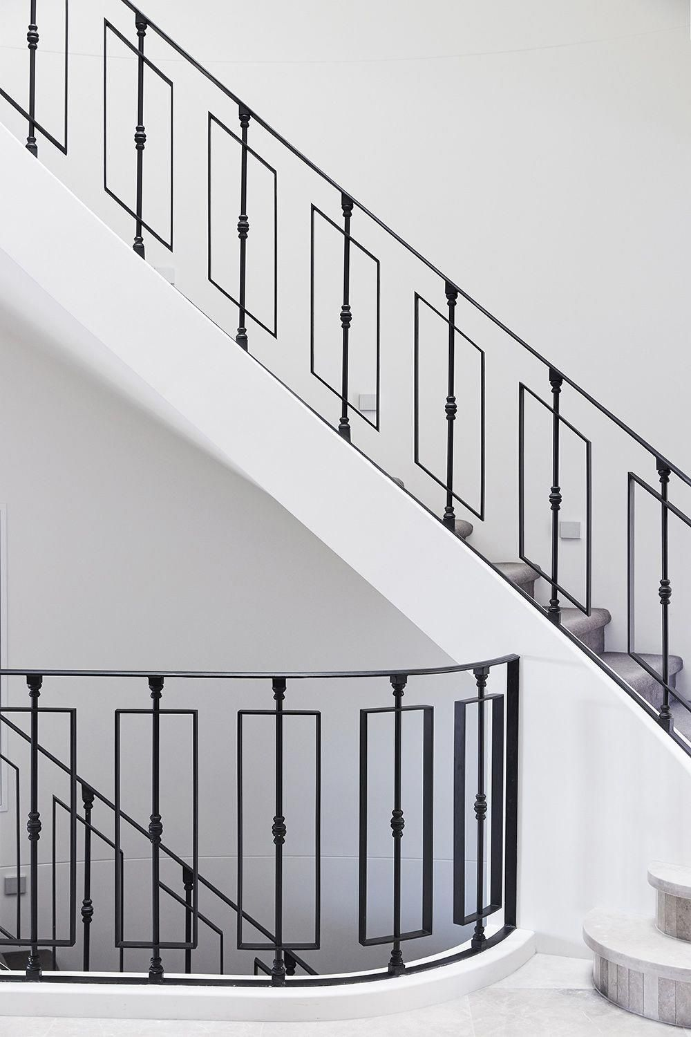 Stairs Curved Staircase Carpeted Stair Wrought Iron | Wrought Iron Balustrades And Handrails | Metal | Wrought Ironwork | Design | Mild Steel | Cast Iron