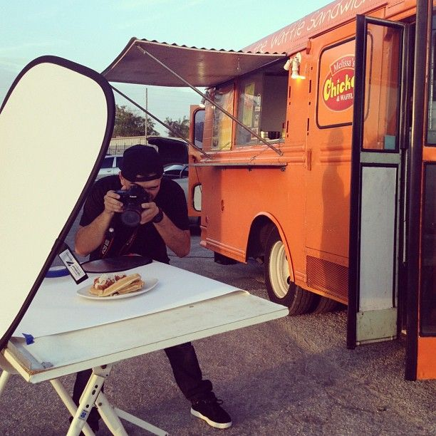 Food Blogger Photographer Droolius Doing What He Does Best With