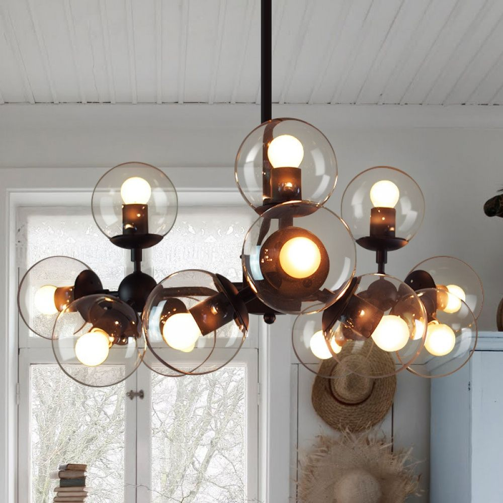 Elegant Modern Style Pendant Chandelier With 12 Lights Lamps