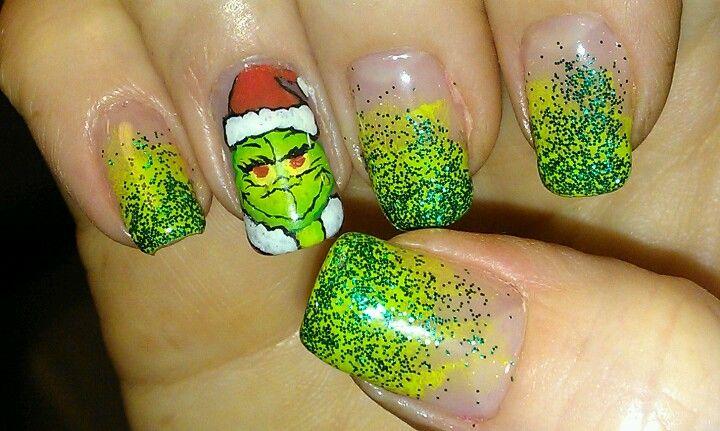 Grinch Nail Art My Nail Art Designs Pinterest Grinch Winter