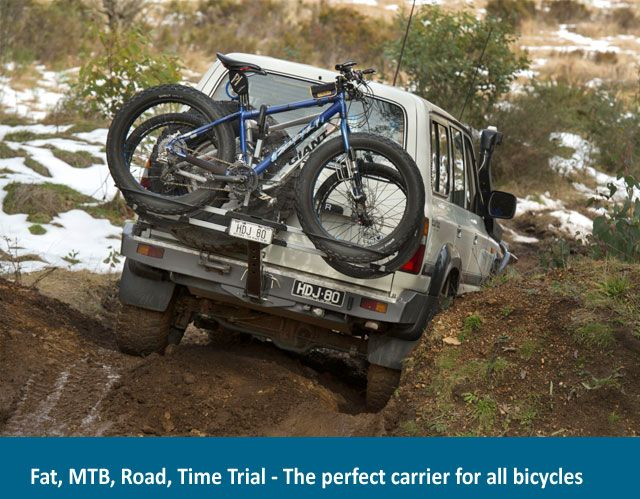 Isi 4x4 Bicycle Carrier Fat Bike Option Camping Outdoors