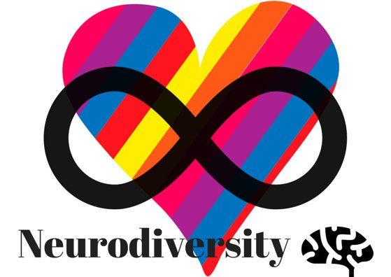 Neurodiversity Rainbow Heart And Infinity Symbol Greeting Card For