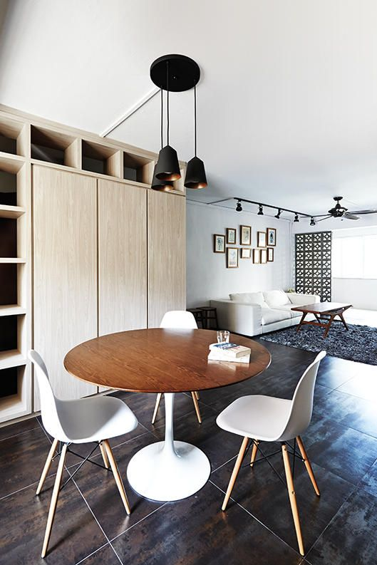 Dining Room Design Ideas Round Dining Tables In Open Concept Hdb