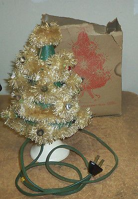 Tabletop 12 Inch Christmas Tree Light Up Vintage 1950 S Working Christmas Tree Light Up Tabletop Christmas Tree Christmas Tree