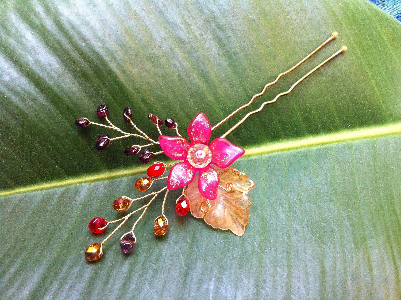 Wire wrap jewelry hair pin