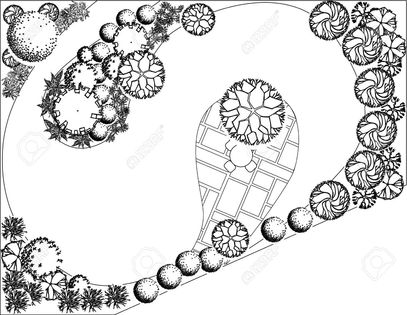 Plan of garden with symbols of tree royalty free cliparts vectors plan of garden with symbols of tree royalty free cliparts vectors and stock illustration biocorpaavc Images
