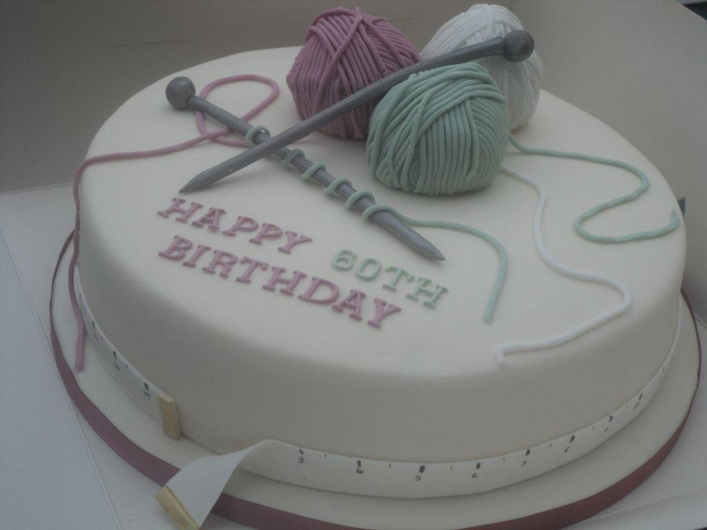 Knitting Cakes Images : Knitting cake th birthday cakes and