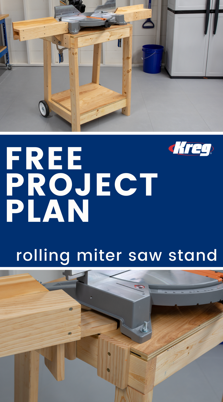 FREE Project Plan: Rolling Miter Saw Stand | Building this ...