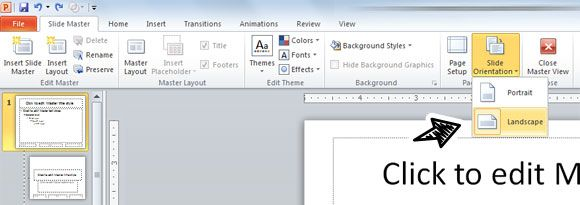 How To Change Orientation In Powerpoint Slides From Landscape To