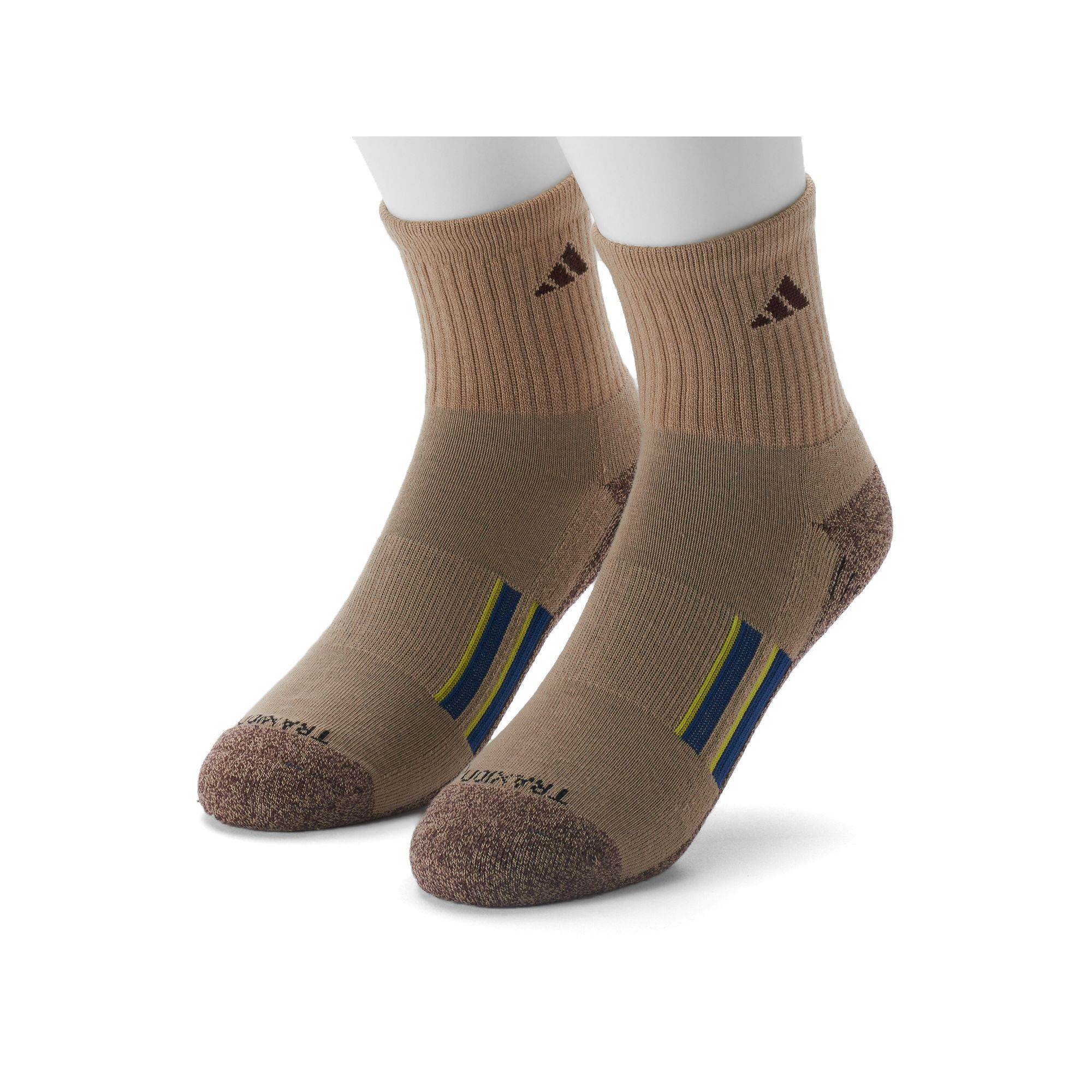 on sale 1be1c 0e16f Mens Adidas 2-pk. Climalite X Half-Crew Performance Socks, Size 6-12,  BeigGreen (BeigKhaki)
