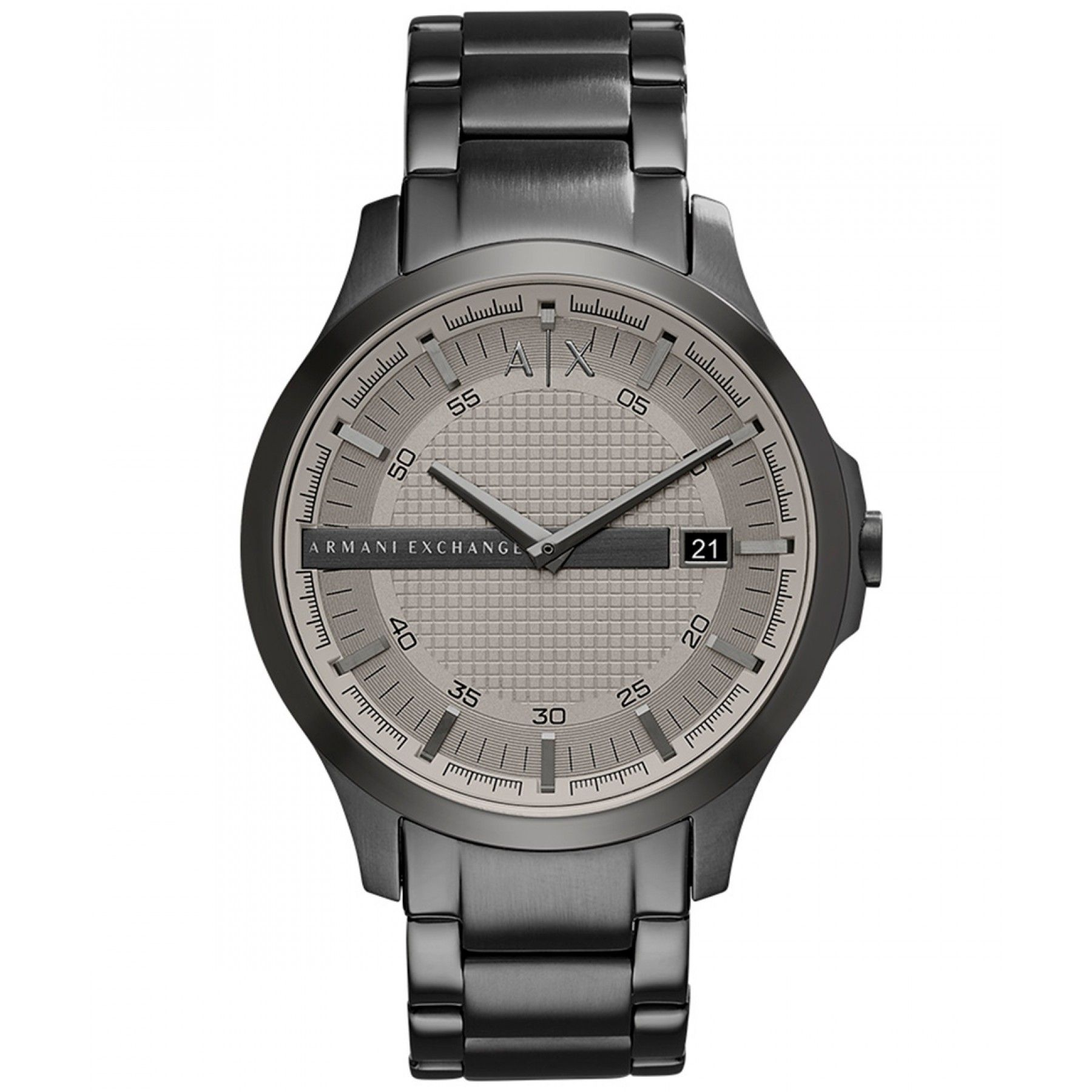 460333b7b0aa Reloj AX con caja bisel y extensible tipo brazalete en acero color gris  carátula a tono