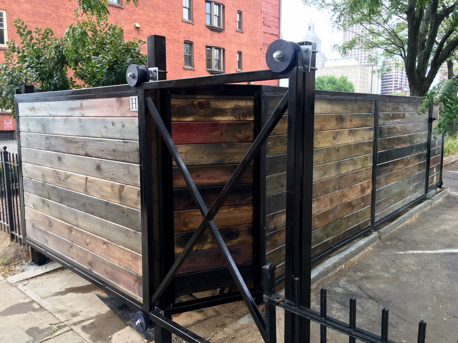 Dumpster Enclosure Made By Hartford Fence Co Architecture Monticello Enclosure