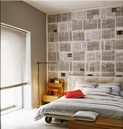 Atrévete A Empapelar Con Papel De Diario Papel Para Decorar Paredes Decora Tu Habitacion Decoración De Unas