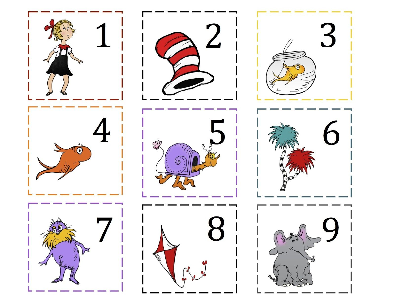 Dr Seuss Free Printable Worksheet For Preschool