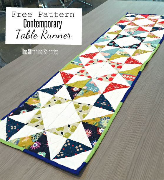 Contemporary Table Runner Pattern Contemporary Table Runners Table Runner Pattern Quilted Table Runners