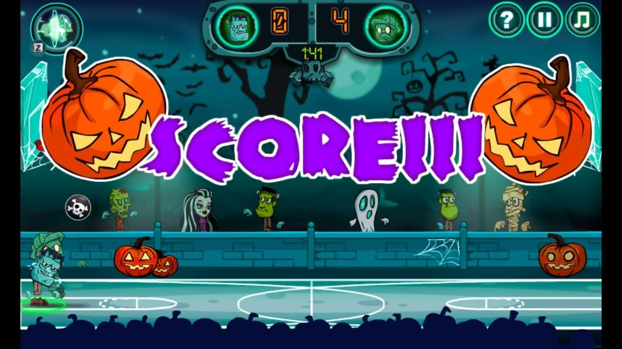 Throw The Ball You Will Be The Champion Or Not Try Your Luck In This Basketball Game With The Halloween Characters Com Games Basketball Legends Online Games