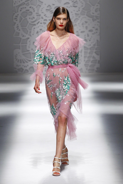 High fashion dress design 2018 collection