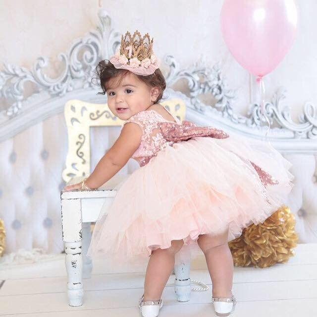 Princess Aisha Dress Rose Gold In 2021 1st Birthday Dresses Birthday Girl Dress Birthday Dresses