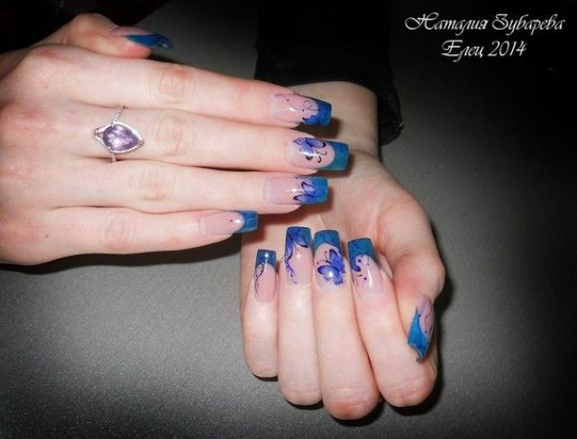 Natalia aus Eliz - kunstfingernägel motive Blau