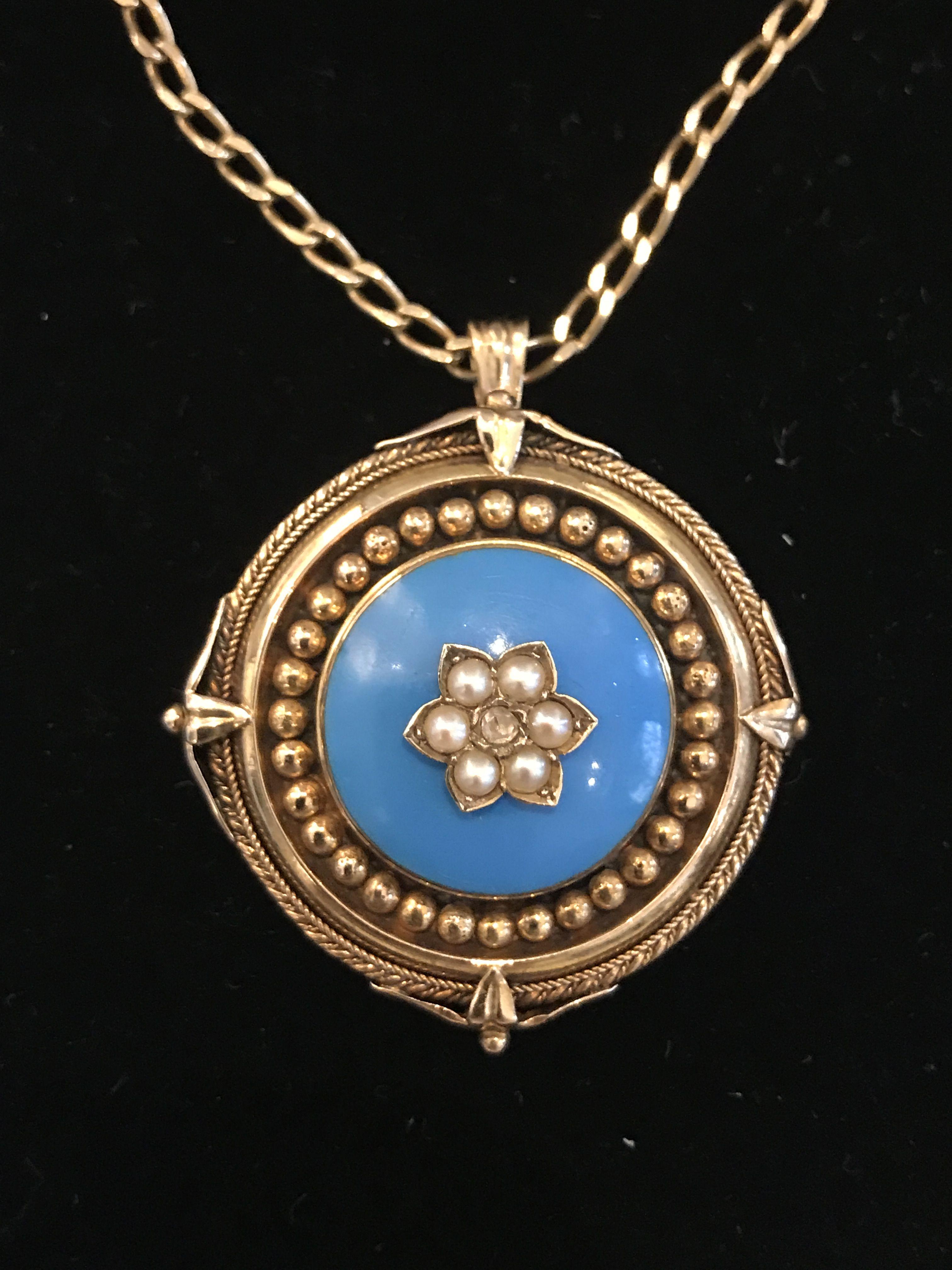 Beautiful victoria ctk gold heavy pendant cm diameter est