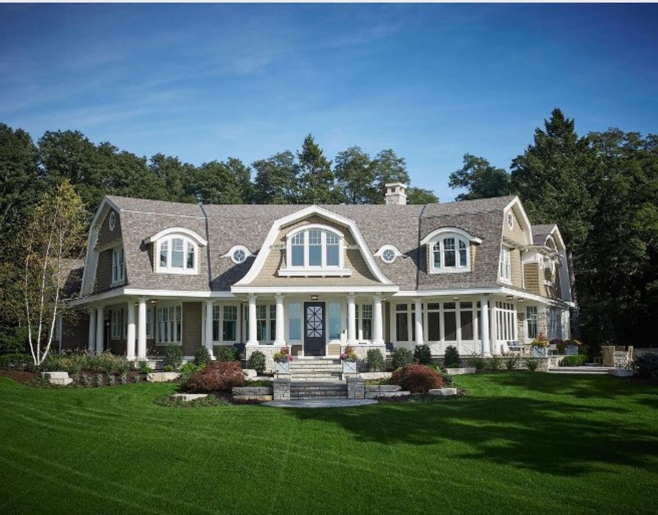 Best Homebunch Com Gambrel Style Lake Houses Exterior Shingling 640 x 480