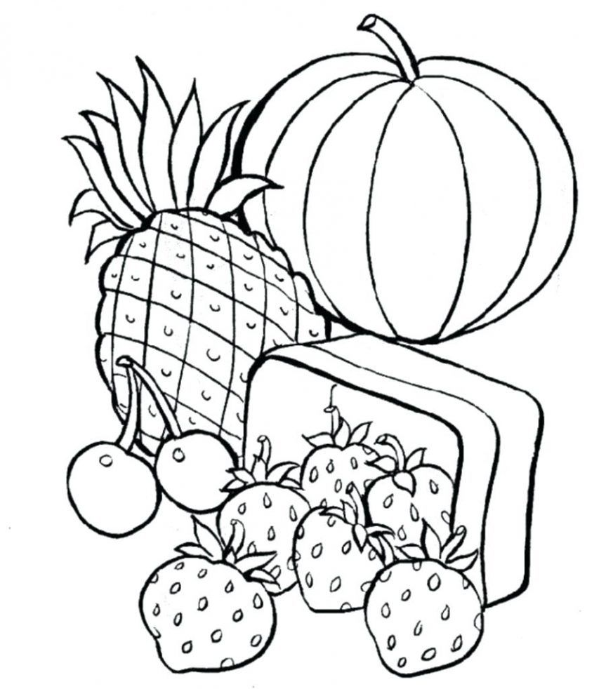 Healthy Food Coloring Pages Healthy Food Coloring Pages At Getdrawings Free For Personal Davemelillo Com Food Coloring Pages Fruit Coloring Pages Cool Coloring Pages