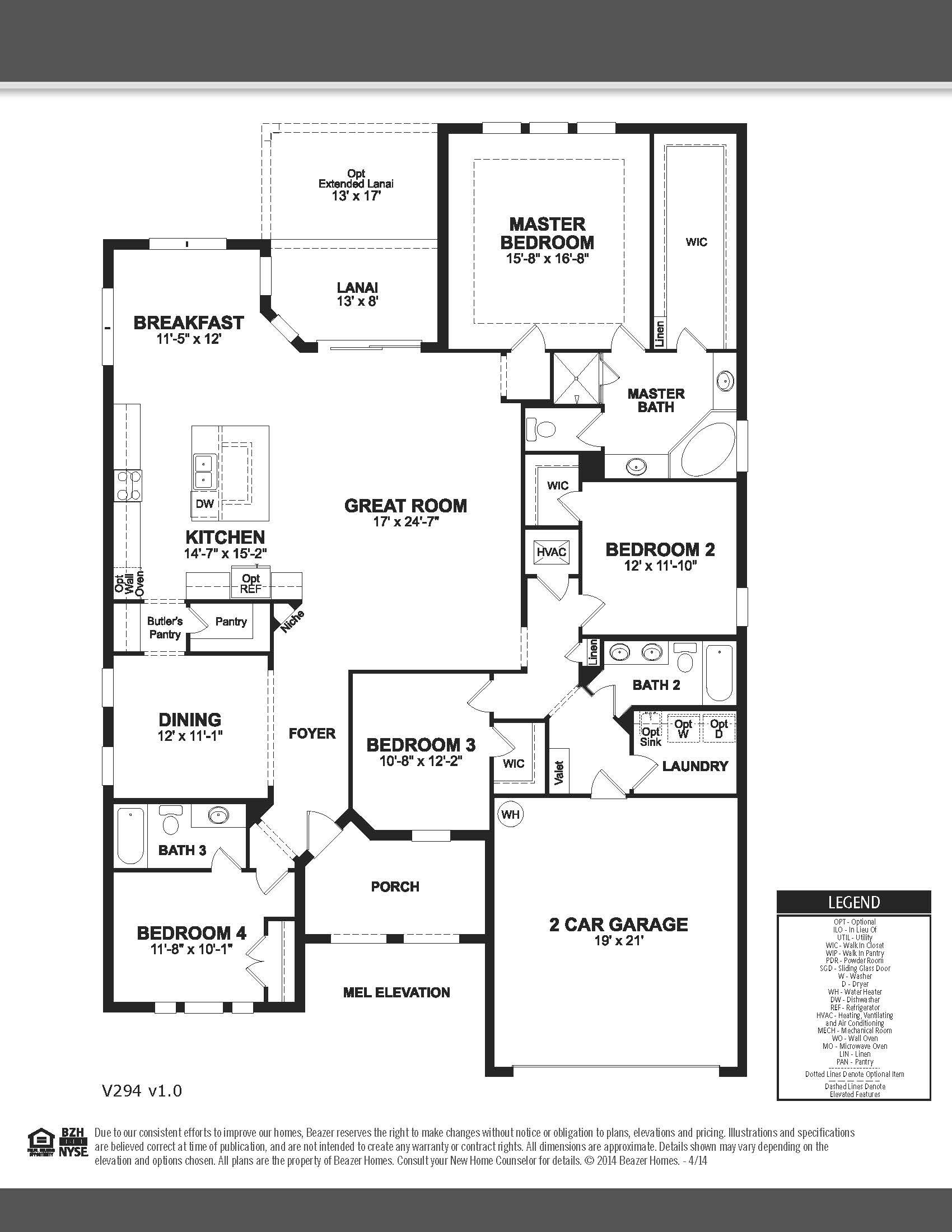 ashwood beazer homes 2592 sq ft - Lake Ridge Beazer Homes Floor Plans