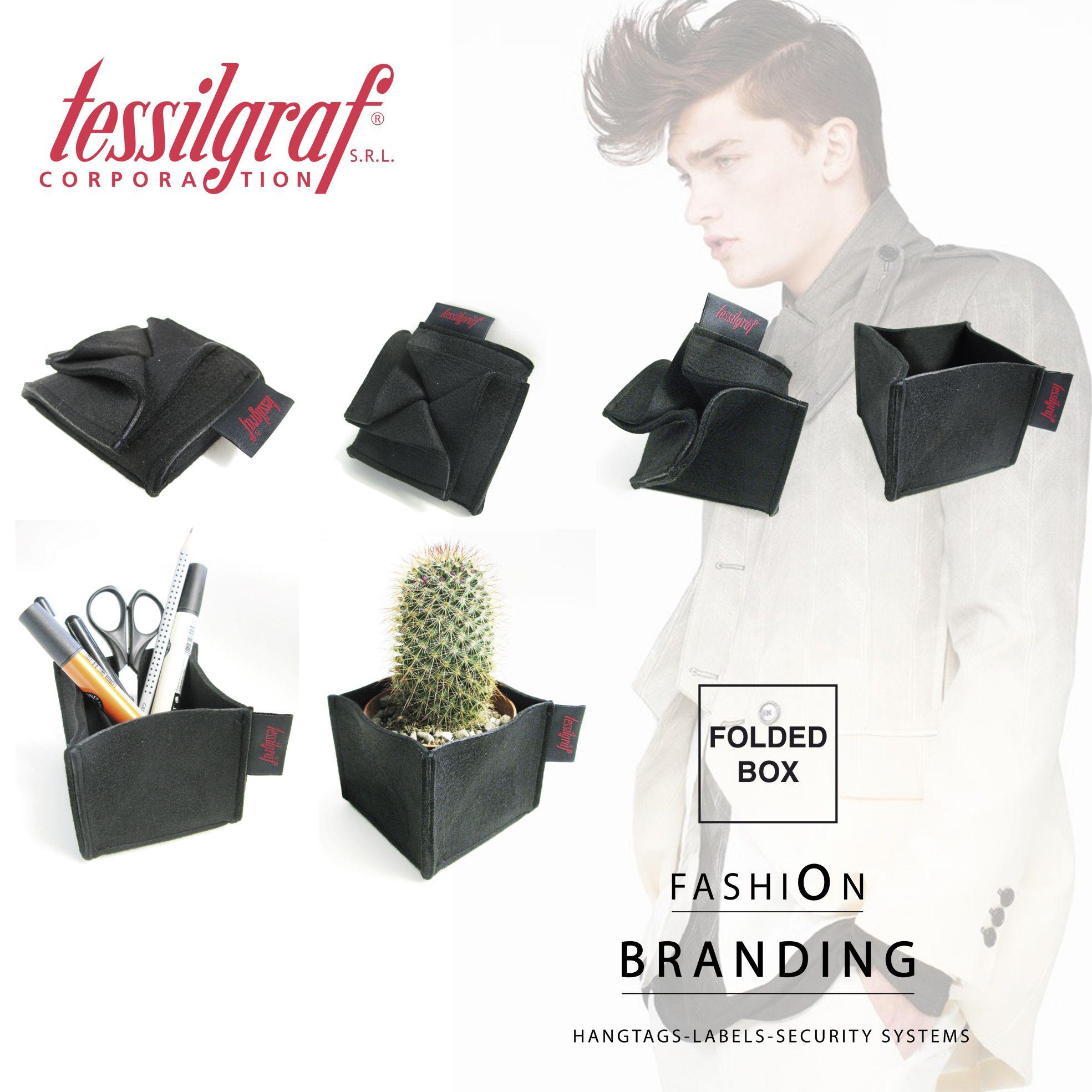 Folded Box #tessilgraf #gadget #fashion #branding