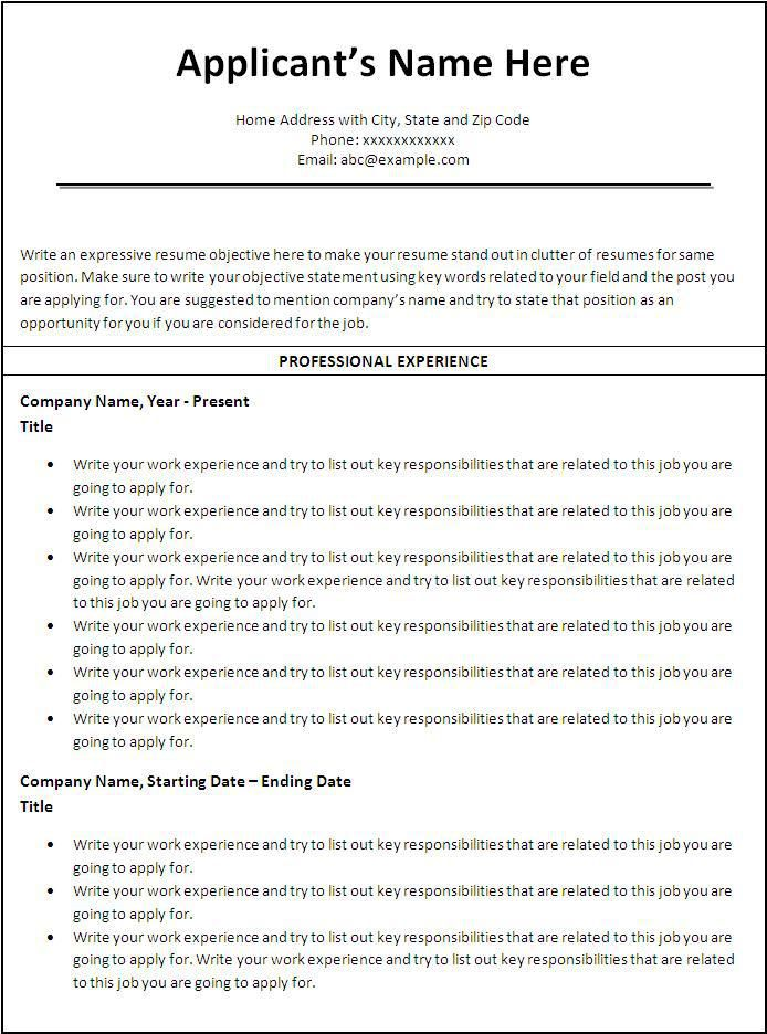 Chronological Resume Template Sample Pinterest Chronological - resume generator