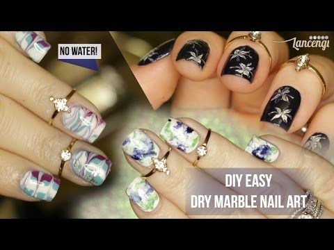 youtube  marble nails water marble nails easy nail art