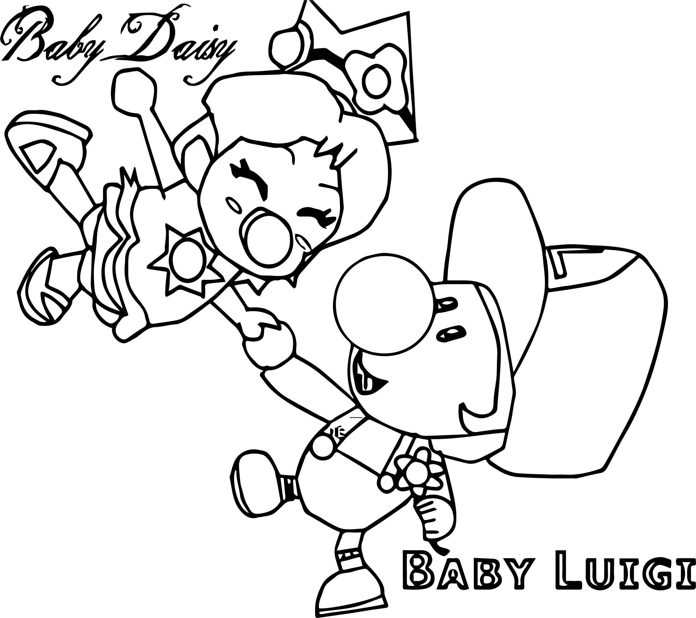 Nice Baby Daisy Baby Luigi Coloring Page Baby Daisy Coloring Pages Coloring Pages Inspirational In 2021 Baby Daisy Coloring Pages Coloring Pages Inspirational