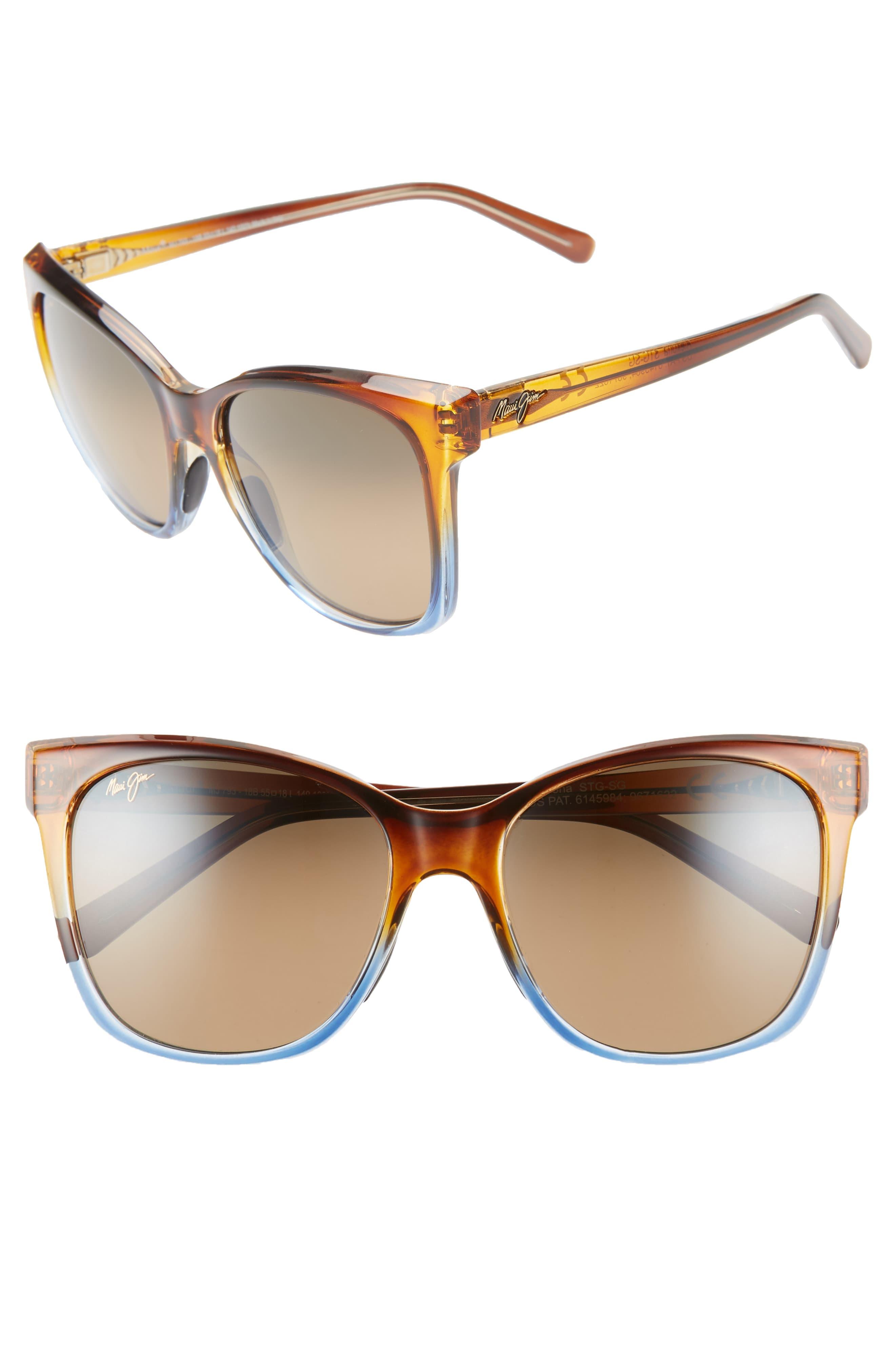 84eeeba94b Maui Jim Alekona 55Mm Sunglasses - Caramel With Blue/ Hcl Bronze in ...