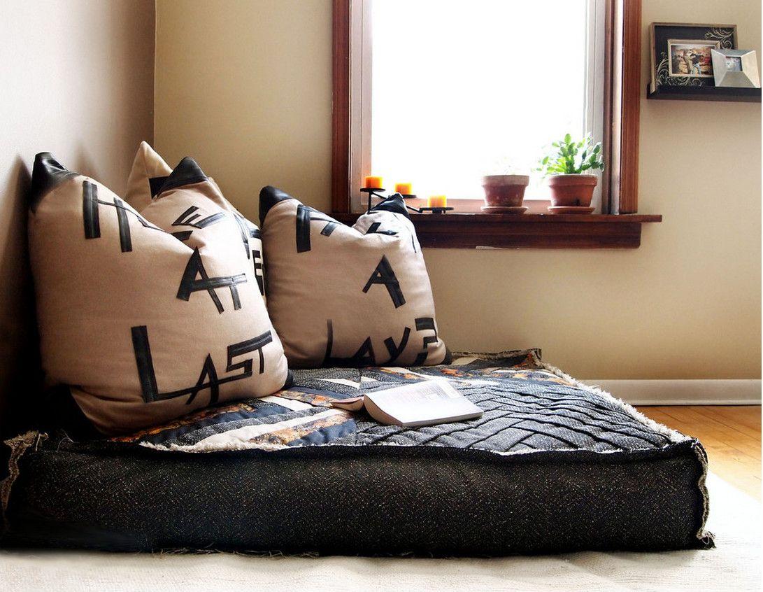 Floor Couch in 2020 Oversized floor pillows, Floor