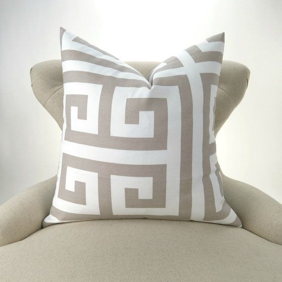 Ecru Pillow Cover MANY SIZES Neutral Throw Pillow Euro Sham