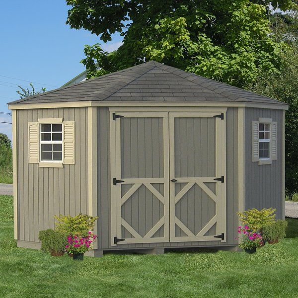 10 Ft. W X 10 Ft. D Solid Wood Shed Type
